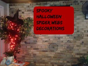 halloween spider webs decorations